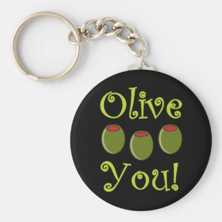 Foodie Olive You Keychain