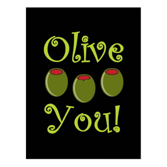 Foodie Olive You Postcard