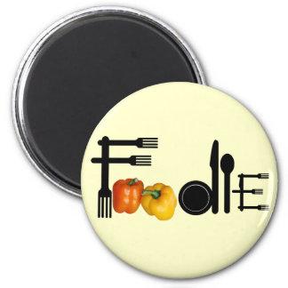Foodie para el fondo ligero imán redondo 5 cm