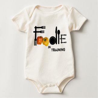 Foodie para el fondo ligero mameluco de bebé