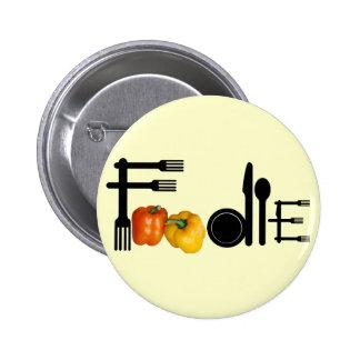 Foodie para el fondo ligero pin