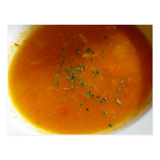Foodie - turkey tomato soup postcard