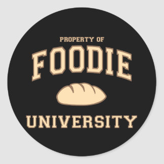Foodie University Classic Round Sticker