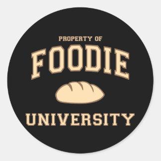 Foodie University Classic Round Sticker