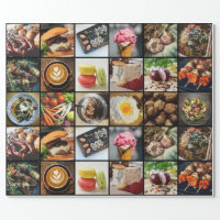 Foodie wrapping paper
