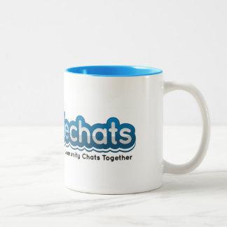 #Foodiechats Two-Tone Mug