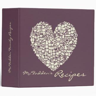 Foodies Cream & Eggplant Recipe Clippings Binder