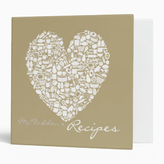 Foodies Personalized Name Recipe Clippings Binder