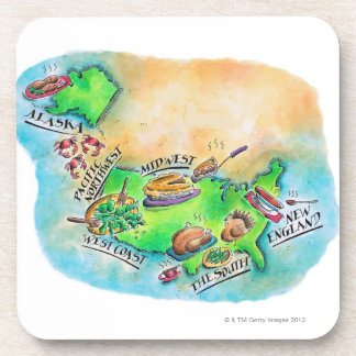Foods of the USA Beverage Coaster