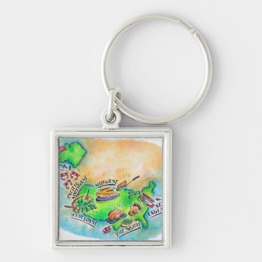 Foods of the USA Keychain