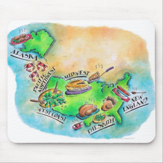 Foods of the USA Mouse Pad