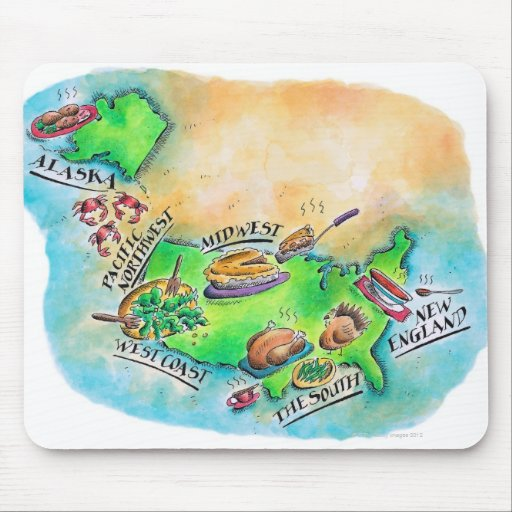 Foods of the USA Mouse Pads