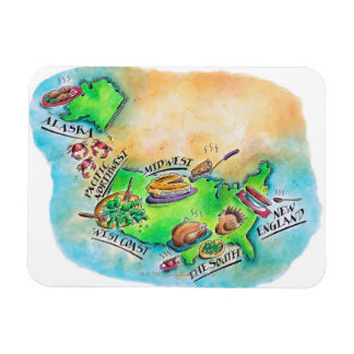 Foods of the USA Rectangle Magnets