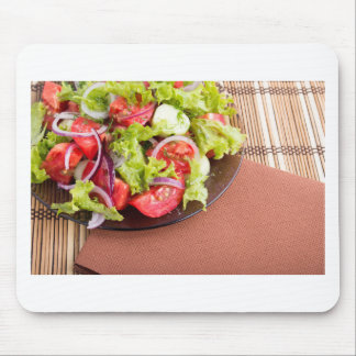 Foodstyle background closeup view of a dish mouse pad
