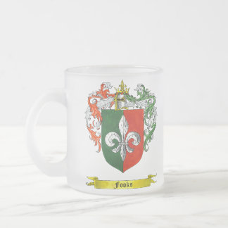 Fooks Shield of Arms 10 Oz Frosted Glass Coffee Mug