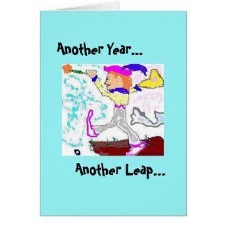 Fool Birthday Card-Aqua Greeting Card