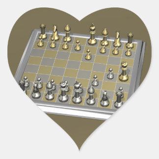 Fool s Mate Heart Sticker