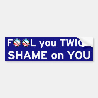 Fool You Twice Car Bumper Sticker