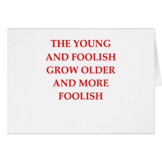 FOOLISH CARD