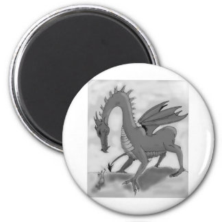 Foolish Knight (Black and white) 2 Inch Round Magnet