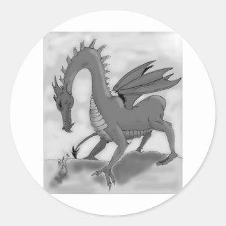 Foolish Knight (Black and white) Classic Round Sticker