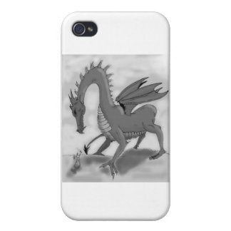 Foolish Knight (Black and white) iPhone 4 Covers