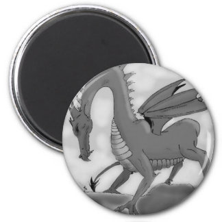 Foolish Knight (Black and white) Magnet