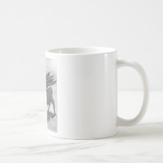 Foolish Knight (Black and white) Coffee Mugs
