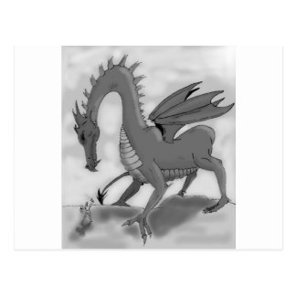 Foolish Knight (Black and white) Postcard