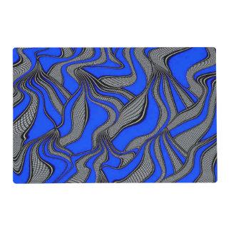 foolish movements blue laminated placemat