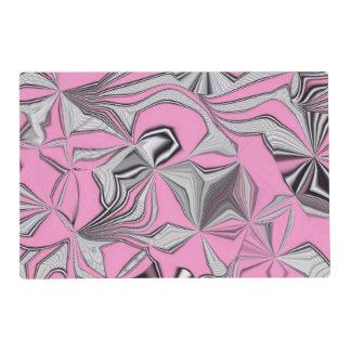 foolish movements pink effect laminated placemat