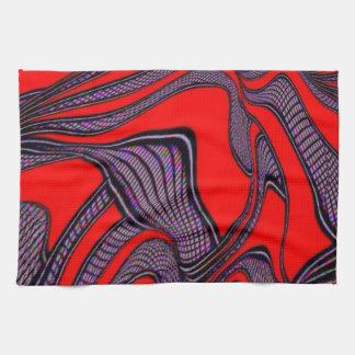 foolish movements, red black hand towels