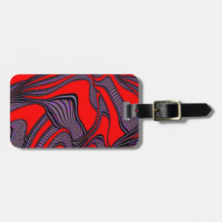 foolish movements, red black luggage tags
