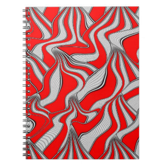 foolish movements, red spiral note book