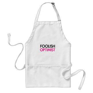 Foolish Optimist (pink smile edition) Adult Apron