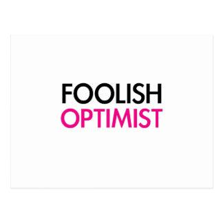 Foolish Optimist (pink smile edition) Postcard