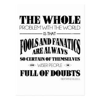Fools and Fanatics Postcard