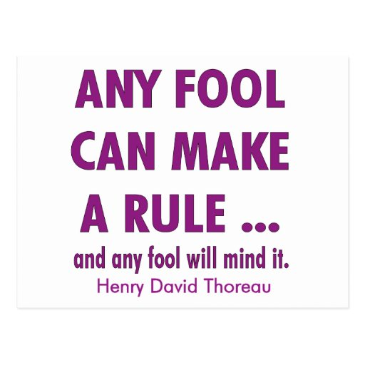 Fools and Rules Postcard