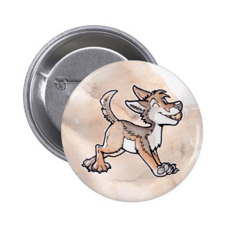 Fool's Gold Coyote Pinback Button