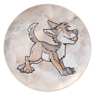 Fool's Gold Coyote Dinner Plate
