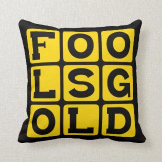 Fool's Gold, Feldspar Mineral Throw Pillow