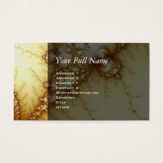 Fools Gold - Fractal Art Business Card