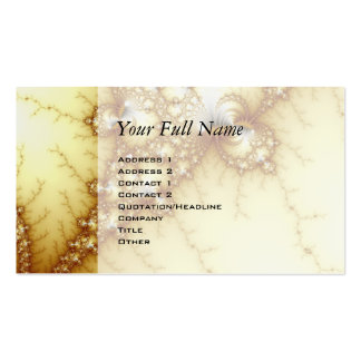 Fools Gold - Fractal Art Double-Sided Standard Business Cards (Pack Of 100)