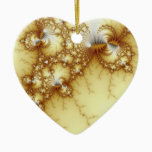 Fools Gold - Fractal Art Ceramic Ornament