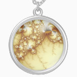 Fools Gold - Fractal Art Silver Plated Necklace