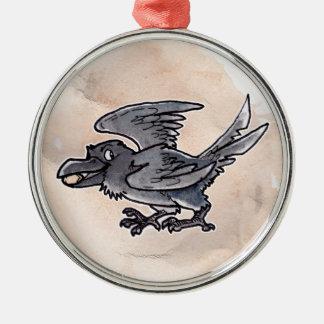 Fool's Gold Raven Metal Ornament