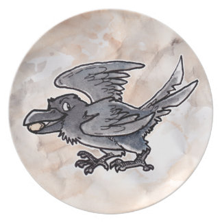 Fool's Gold Raven Party Plates