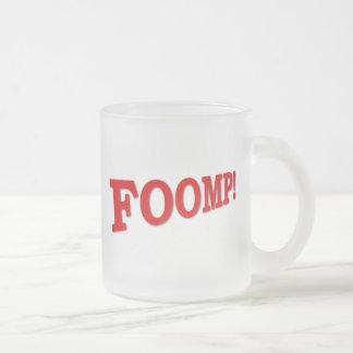 FOOMP! FROSTED GLASS COFFEE MUG