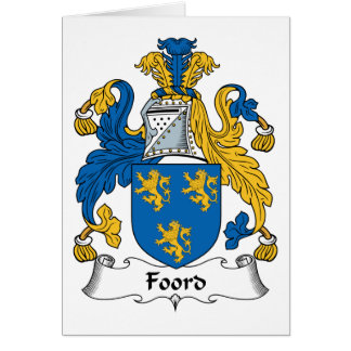 Foord Family Crest Card