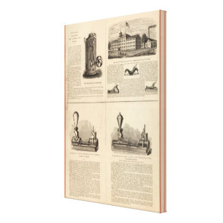 Foos y regla y nivel de Jane Stanley Impresión En Lona Estirada